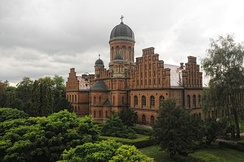 Residence of Bukovinian and Dalmatian Metropolitans building by Josef Hlávka, 1882, now Chernivtsi University