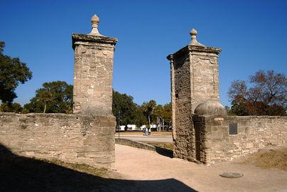 The city gates of St. Augustine, built in 1808, part of the much older Cubo Line
