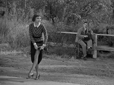 It Happened One Night (1934) is about a rich woman who learns about regular Americans when she travels the Interstate system by car.