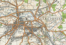A map of Colchester from 1940.