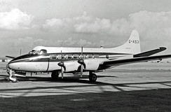 De Havilland Heron operated from Manchester Airport 1962–1970 as an executive transport, particularly between the factories in Lancashire and Scotland. The company name is on the lower fin.