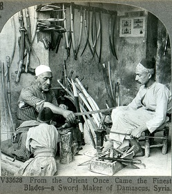 A sword-maker from Damascus, ca. 1900.
