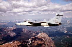 An EF-111 flies over the Alps during Operation Deny Flight