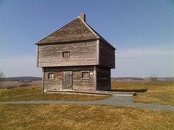Fort Edward (built 1750), Windsor, Nova Scotia. The oldest blockhouse in North America.
