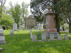 Grave site of Clark at Cave Hill Cemetery in Louisville