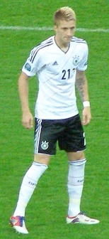 Reus playing for Germany in 2012