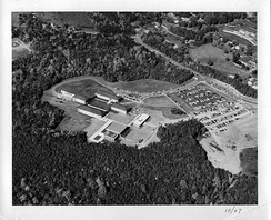 Aerial photograph taken in 1967 showing what was then called George Mason College