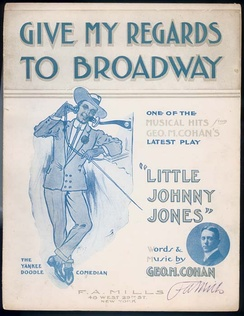 "Sheet music to ""Give My Regards to Broadway"""