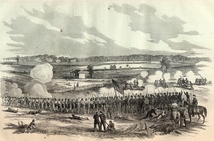 The Battle of Perryville battlefield as depicted in Harper's Weekly, November 1, 1862