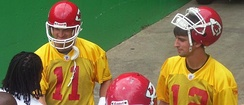 Damon Huard (left) and Brodie Croyle (right) both served as the Chiefs' starting quarterback after Trent Green's departure