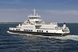 A Danish ferry built in a Bangladeshi shipyard