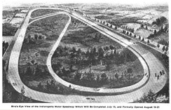 Artist's rendition of the original speedway plan (not an actual picture)