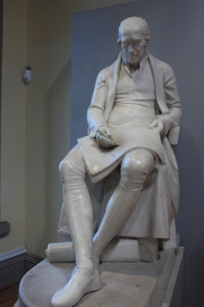 Statue of Watt. (Hunterian Museum, Glasgow, by Francis Chantrey.)