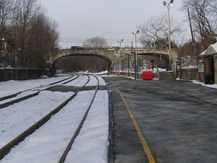 The Lake Hopatcong station facing westward towards Mount Olive