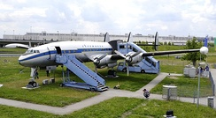 Lockheed L-1049 G Super Constellation on display close to Munich International Airport