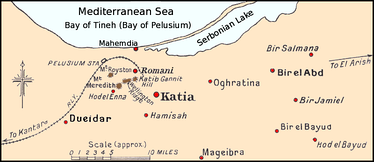 Romani and surrounds, 1916 (Serbonian Lake also known as Bardawil Lagoon)