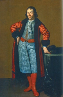Portrait of Menshikov by Michiel van Musscher (1698)
