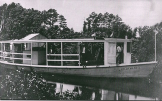 The motorboat Helen Marie II, which replaced the Allie May on the Rehoboth Beach-Bethany Beach run in 1912.[45]