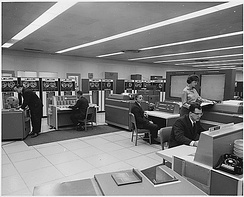 NASA mission control computer room c. 1962