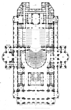 Plan of the Palais Garnier
