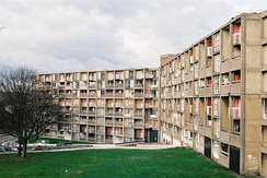 Park Hill Flats (1961), designed by Jack Lynn and Ivor Smith, located in Sheffield, England.