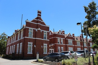 Perth Modern School, located in Subiaco, was the first government secondary school in Western Australia.