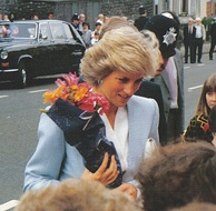 The Princess on a royal visit for the official opening of the community centre on Whitehall Road, Bristol, in May 1987