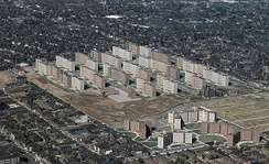Pruitt–Igoe was a large housing project constructed in 1954, which became infamous for poverty, crime and segregation. It was demolished in 1972.