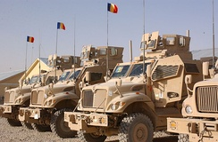"The first eight MaxxPros now in use of the 811th ""Dragonii Transilvani"" Maneuver Battalion and the 812th ""Şoimii Carpaţilor"" Maneuver Battalion deployed in Zabul Province."