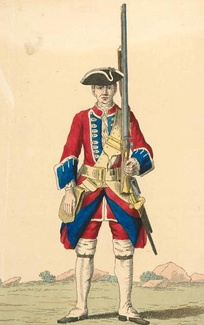 Soldier of the Royal Regiment of foot, 1742