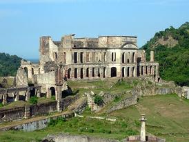 Тыльная часть дворца Сан-Суси (1810—1813).