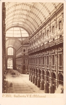 Galleria Vittorio Emanuele II in Milano was an architectural work created by Giuseppe Mengoni between 1865 and 1877 and named after the first King of Italy, Victor Emmanuel II