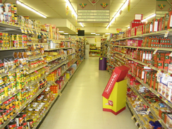 An example of an American grocery store aisle