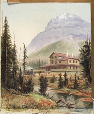 Mount Stephen House in 1887. Opened a year earlier, it was one of the first hotels operated by Canadian Pacific Hotels.