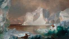 Church's The Icebergs (1861) was sold at auction for a record-setting amount in 1979, following its rediscovery.