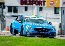 Thed Björk driving an S60 entered by Polestar Racing in the 2014 Scandinavian Touring Car Championship.