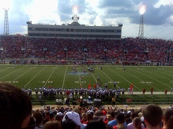 The first South Alabama Jaguars football game at Ladd–Peebles Stadium.
