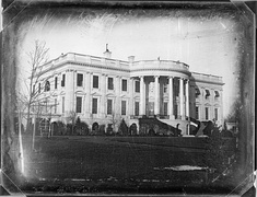 Earliest known photograph of the White House, taken c. 1846 by John Plumbe during the administration of James K. Polk.