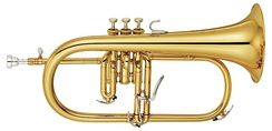Flugelhorn with three pistons and a trigger