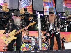 ZZ Top at the Crossroads Guitar Festival, on June 26, 2010