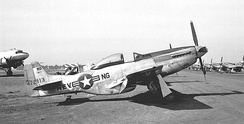 A North American F-51D Mustang of the 192d Fighter Squadron at Reno Air Force Base, 1948
