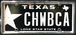 A vanity plate in Amarillo, Texas, referencing the Star Wars character Chewbacca