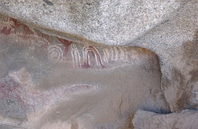 Arawak petroglyphs in the Ayo Rocks