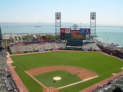 An image of Oracle Park, a baseball field