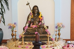 Murti of Adi Shankara at the SAT Temple in Santa Cruz, California