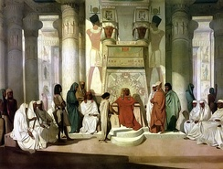 Joseph Interprets the Dream of Pharaoh (19th-century painting by Jean-Adrien Guignet)