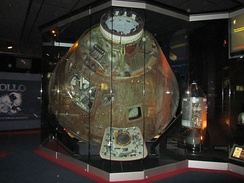 Apollo 13 command module on display (2010)