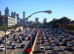 I-75 co-signed with I-85 in downtown Atlanta, GA
