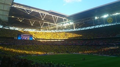 Wembley hosted the 2013 UEFA Champions League Final between Bayern Munich and Borussia Dortmund
