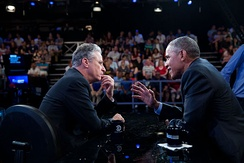 Barack Obama made his final appearance on the show with Jon Stewart as host on July 21, 2015.